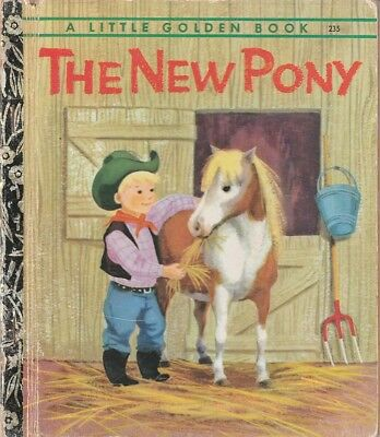 VINTAGE LGB LITTLE GOLDEN BOOK SYDNEY No.235 THE NEW PONY