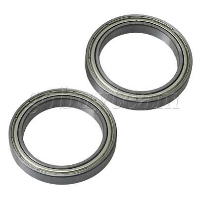 2 Pieces 61807ZZ Silver Replacements Part Precision 47mm OD Ball Bearing