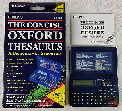 Seiko ER-2000, The Concise Oxford Thesaurus, Electronic Dictionary, Boxed.
