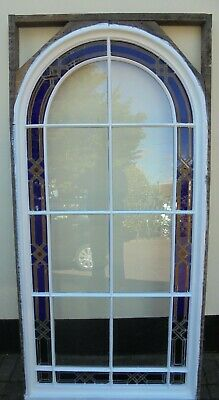 Large Victorian Fully Restored Leaded Stained glass Window ready to install