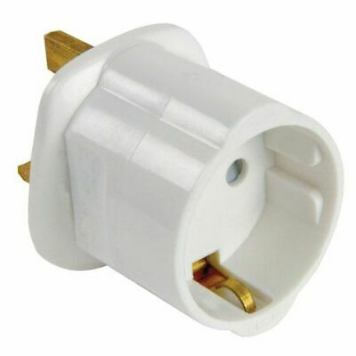 Adaptador de Enchufe de Europeo a Enchufe UK Blanco - G