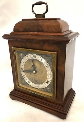 ELLIOTT LONDON Burr Walnut Bracket Mantel Clock : Working order