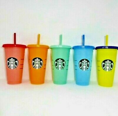 Starbucks COLOR CHANGING 1 SINGLE Cold Cup 24oz *IN HAND / Multi-Color *