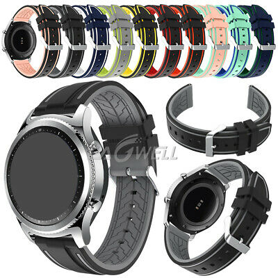 AU Universal Sports Silicone Wrist Watch Band Bracelet Replacement Strap 22mm