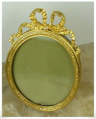 Stunning Antique French Louis Xvi Photo Frame Bronze & Brass
