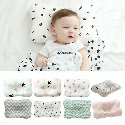 Newborn Baby Infant Cotton Pillow Positioner Prevent Flat Head Anti Roll TR