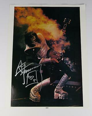 Ace Frehley KISS Signed Autograph 17x23 Poster