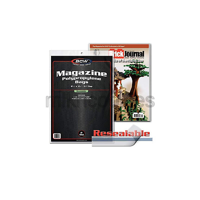 """BCW Resealable Magazine Bags 8-3/4"""" X 11-1/8"""" with 1-1/2"""" Flap. (100-Count)"""