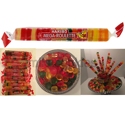 Haribo Mega Roulette Gummis 24 Count Case Popular German Candy Free