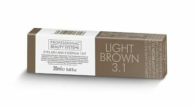 Professional Beauty Systems - Eyelash & Eyebrow Tint LIGHT BROWN - New & Boxed