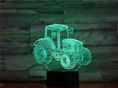 Lighting Ship Traffic 3D Lamp LED Night Light Touch Acrylic Table birthday Gifts 7 Color