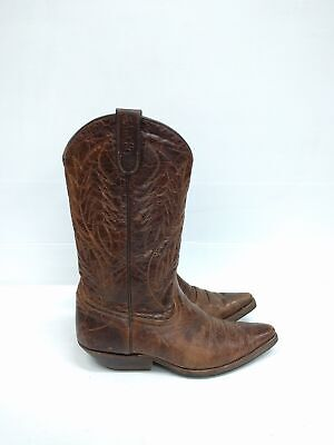 Size 40 Vintage Ladies Cowgirl SANCHO  made in Spain Western Brown Leather boots