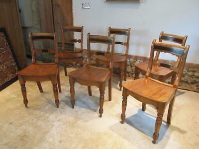Chairs six Essex bar back kitchen dining chairs c1830