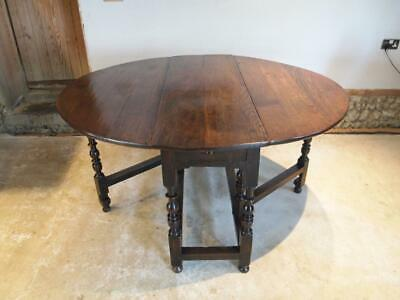 Table Queen Anne Oak gate leg dining table c1700