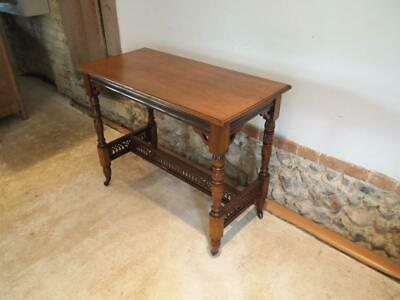 Table hall side lamp console Victorian Walnut c1880