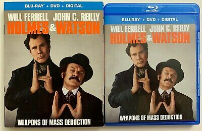 Holmes & Watson Blu Ray Dvd 2 Disc Set + Slipcover Sleeve Free World Wide Shippi