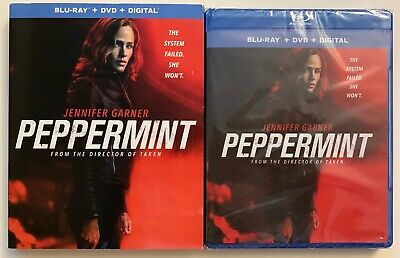 New Peppermint Blu Ray Dvd Digital 2 Disc Set + Slipcover Sleeve Free Shipping