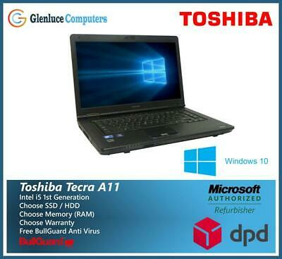 MEGA DEAL Toshiba Tecra Office Laptop A11 Core i5 8GB Ram HDD Or SSD Windows 10
