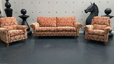 Duresta Belvedere Three Seater Sofa & Southsea Arm Chairs Suite Settee Rrp £7100