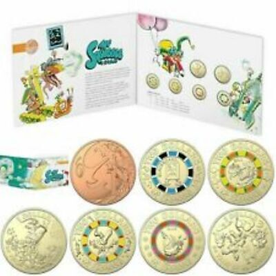 Free Post - 2019 Mr Squiggles and Friends 7 Coin Collection in Folder, UNC