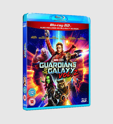 Guardians of the Galaxy Vol. 2 3D (Includes 2D Version) + Blu-ray [Region free]