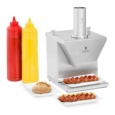 Electric Sausage Slicer Adjustable Thickness Commercial German Currywurst Cutter
