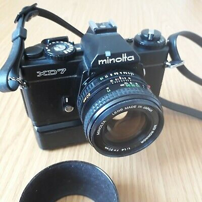 Minolta XD7 - 50mm f1:4 MD Rokkor with dedicated MotorDrive