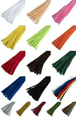 30cm Pipe Cleaners - Craft Chenille Sticks - Plain, Tinsel, 6mm, 12mm - Trimits