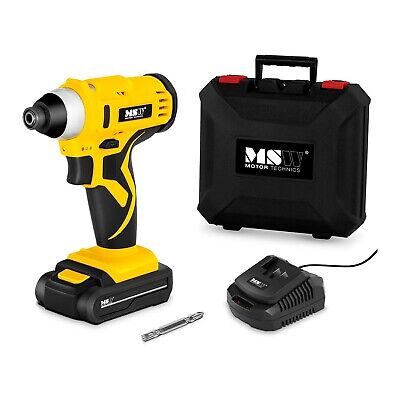 Cordless Impact Driver Electric Drill With Carry Case And Charger LED Lighting