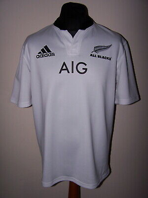 27c741516ee New Zealand All Blacks Adidas 2013 Altenative White Rugby Union Shirt (L)  Jersey