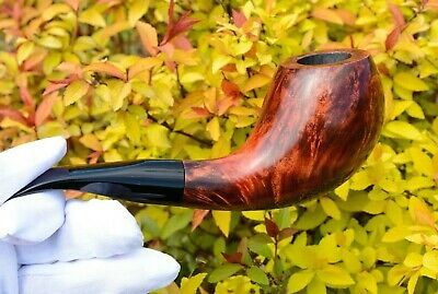 Freehand Bent Egg Tobacco Smoking Briar Pipe Wooden Gift For Smoker Father