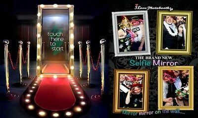 Magic Mirror Hire Photobooth Selfie Photo Booth Event Wedding Party Prom Ball