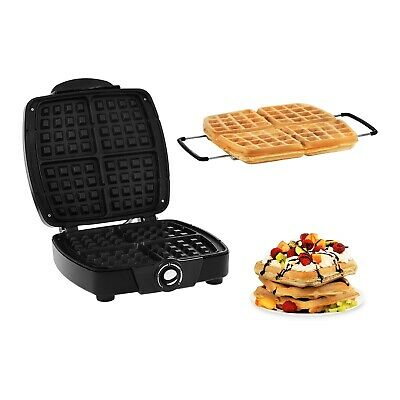 Electric Waffle Maker 4 Belgian Waffles 1200 W Commercial Waffle Machine