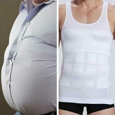 Men's Slimming Tummy Control Body Shaper Shapewear Waist Girdle Vest Shirt Tops