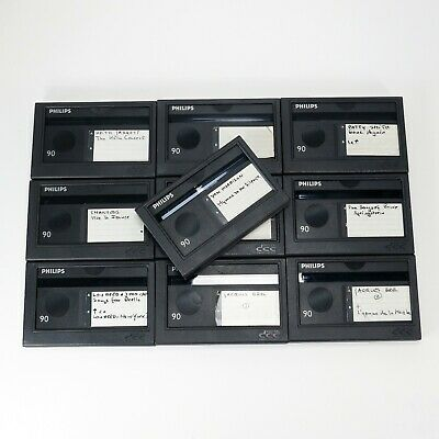 Lot of 10 Used Philips DCC Digital Compact Cassettes of 90 Minutes (DCC#1)