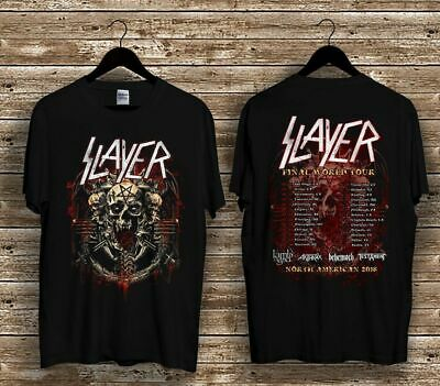 New  Slayer Farewell Tour 2018 T-Shirt Usa Size Em1