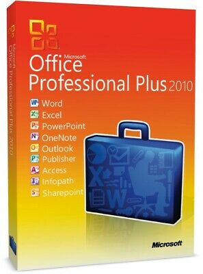 Microsoft Office 2010 Professional Plus ( Key for 1 PC)