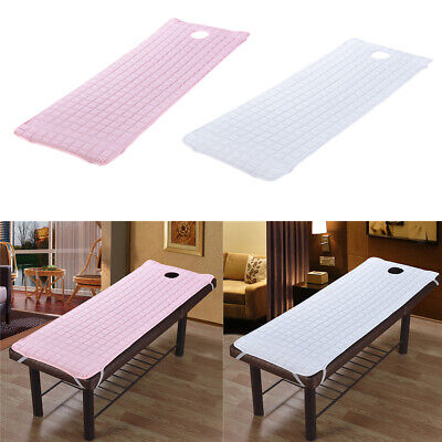 2pcs Massage Table Mattress Sheet Cosmetic Bed Couch Cover with Face Hole