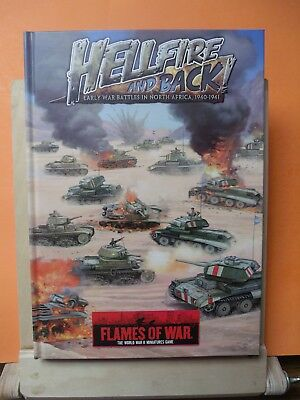 (094) Flames of War Book Afrika HELLFIRE AND BACK HARD COVER BOOK