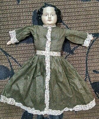 Primitive Country China Doll