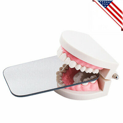 Dental Intraoral Orthodontic Photographic Glass Mirror 2sided Rhodium Lab Clinic