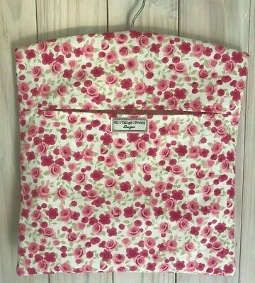 Peg Bag Made In 'Ditsy Rose Pink' Design - Quality Cotton Fabric - Laundry