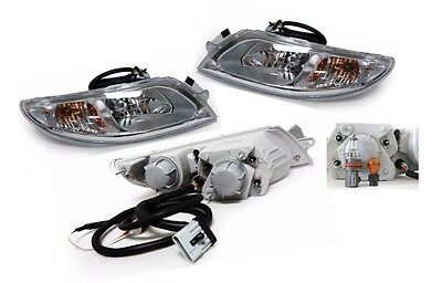 Chrome Headlight PAIR FOR 2003-2007 INTERNATIONAL 4100 4200 4300 4400 8500 8600