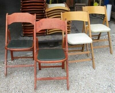 26 Wood Folding Chairs Church Funeral Home Wedding Concert Patio Picnic