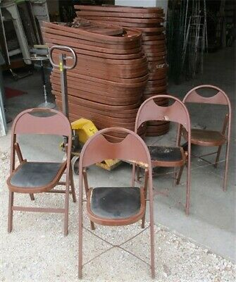 64 Wood Folding Chairs Church Funeral Home Wedding Concert Patio Picnic