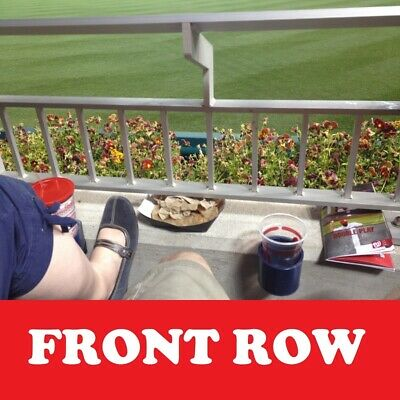 2 AISLE Front Row Seats Washington Nationals Tickets vs Chicago White Sox 6/5/19
