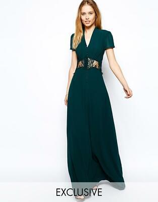 0b12026f73 NEW ASOS PLUNGE Rushed Prom High Neck Maxi Dress by Jarlo size US 2T ...