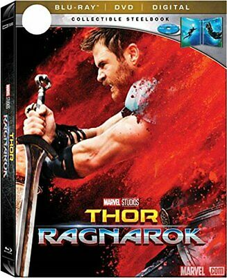 New! Marvel Thor: Ragnarok Limited Edition Steelbook (Blu-Ray + DVD + Digital)