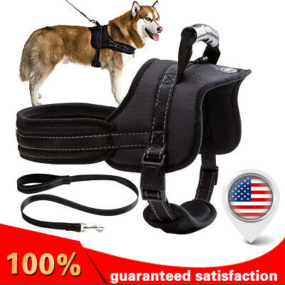 SOFT No Pull Dog Pet Premium Harness Adjustable Vest & Leash Outdoor Walking