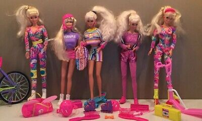 Barbie Doll Mattel Athletic Active Collection Lot of (5)